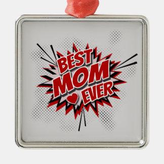 Beste Mamma überhaupt Quadratisches Silberfarbenes Ornament