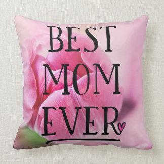 Beste Mamma-überhaupt Rosa-Tulpe Kissen