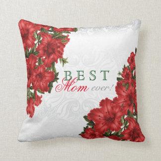 Beste Mutter-überhaupt rote Lilien-Blumen Kissen