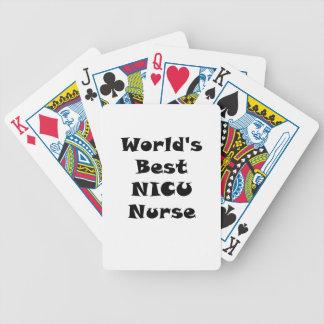 Beste NICU Krankenschwester der Welt Bicycle Spielkarten