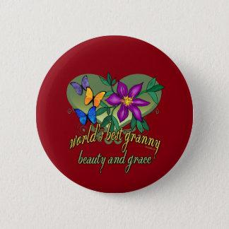 Beste Oma-Schönheit und Anmut Runder Button 5,1 Cm