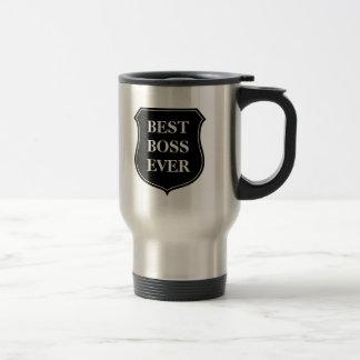 Beste Reise-Tasse des Chefs überhaupt mit Zitat Edelstahl Thermotasse