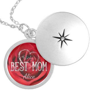 Beste Rote Rose der Welt der Mamma-| Versilberte Kette