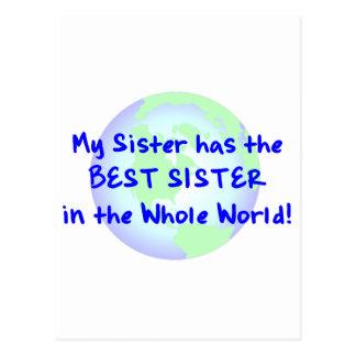 Beste Schwester Postkarte