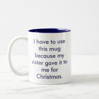 Beste Schwester-Tasse Zweifarbige Tasse
