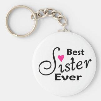 Beste Schwester überhaupt Standard Runder Schlüsselanhänger