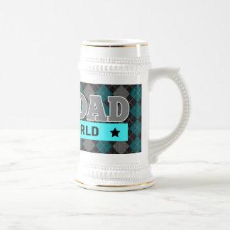 Beste Vatertag der Vati-Rauten-der gemusterte der Bierglas
