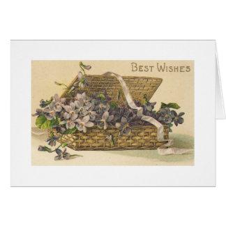 Beste Wunsch-Korb der Blumen Karte