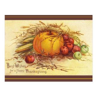 Beste Wünsche für einen glücklichen Erntedank Postkarte