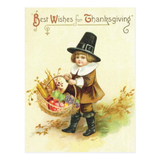Beste Wünsche für Erntedank Postkarte