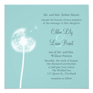 Beste Wünsche! Hochzeits-Einladung (Türkis) Quadratische 13,3 Cm Einladungskarte