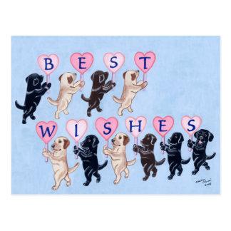 Beste Wünsche Labradors Malerei Postkarte