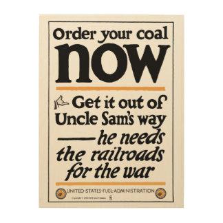 Bestellen Sie Ihre Kohle jetzt 1917 Holzdruck