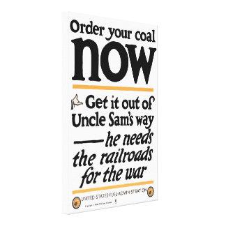 Bestellen Sie Ihre Kohle jetzt 1917 Leinwanddruck