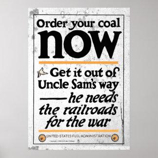 Bestellen Sie Ihre Kohle jetzt 1917 Poster
