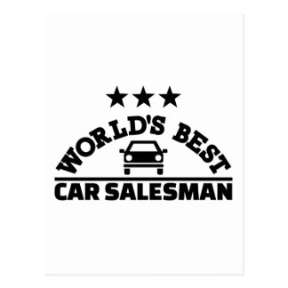 Bester Autoverkäufer der Welt Postkarte
