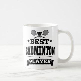 Bester Badminton-Spieler Kaffeetasse