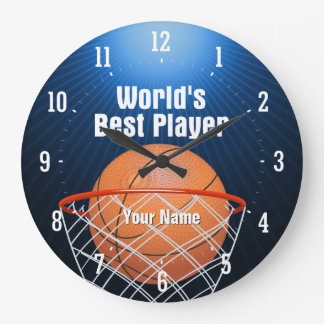 Bester Basketball der Welt des Spieler-| Große Wanduhr