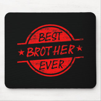 Bester Bruder überhaupt rot Mauspads