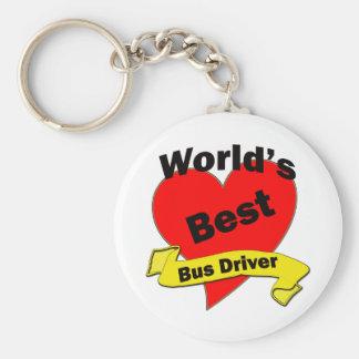 Bester Bustreiber der Welt Standard Runder Schlüsselanhänger