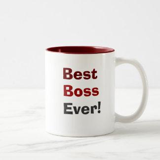 Bester Chef überhaupt! Zweifarbige Tasse