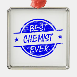Bester Chemiker überhaupt blau Weihnachtsornament