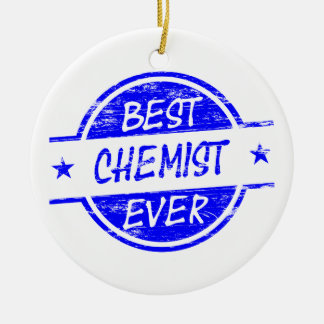Bester Chemiker überhaupt blau Weinachtsornamente