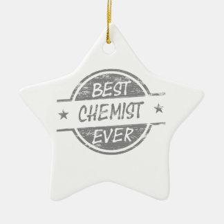 Bester Chemiker überhaupt grau Keramik Stern-Ornament
