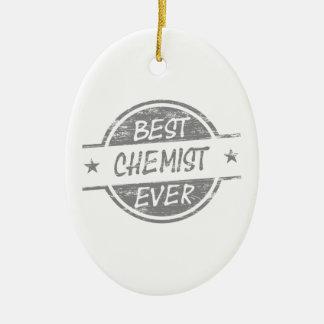 Bester Chemiker überhaupt grau Ovales Keramik Ornament