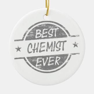 Bester Chemiker überhaupt grau Rundes Keramik Ornament