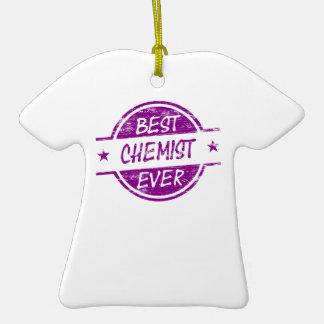 Bester Chemiker überhaupt lila Keramik T-Shirt-Ornament