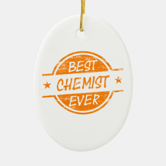 Bester Chemiker überhaupt orange Ovales Keramik Ornament