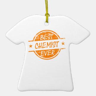 Bester Chemiker überhaupt orange Weinachtsornamente