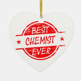 Bester Chemiker überhaupt rot Keramik Herz-Ornament