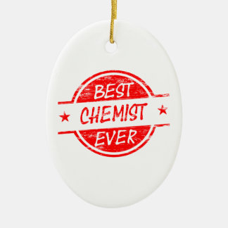 Bester Chemiker überhaupt rot Ornament