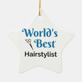 Bester das Haar-Stylist der Welt Keramik Ornament