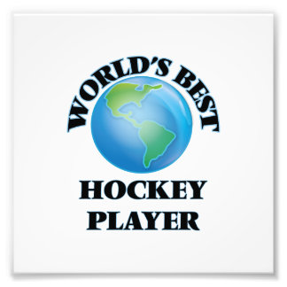 Bester das Hockey-Spieler der Welt Photodruck