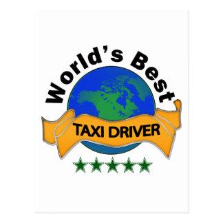 Bester das Taxi-Fahrer der Welt Postkarte