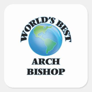 Bester der Bogen-Bischof der Welt Quadrat-Aufkleber
