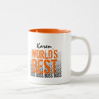 Bester der Chef-Schmutz der Welt, der Orange 012 Zweifarbige Tasse