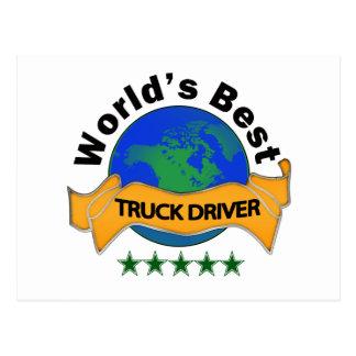 Bester der LKW-Fahrer der Welt Postkarte