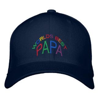 Bester der Papa-Hut der Welt Bestickte Baseballkappe