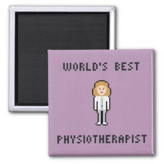 Bester der Physiotherapeuten-Magnet der Welt Quadratischer Magnet