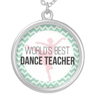 Bester der Tanz-Lehrer der Welt - tadelloses Versilberte Kette