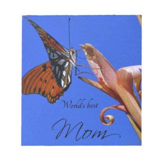 Bester die Mamma-Schmetterling der Welt Notizblock