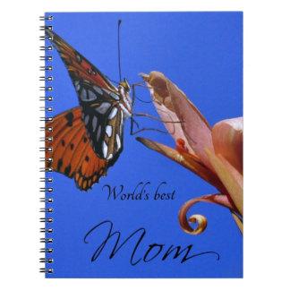 Bester die Mamma-Schmetterling der Welt Spiral Notizblock