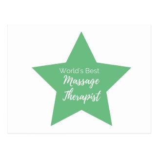 Bester die Massage-Therapeut der Welt Postkarte