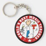 Bester die Musik-Lehrer der Welt Standard Runder Schlüsselanhänger