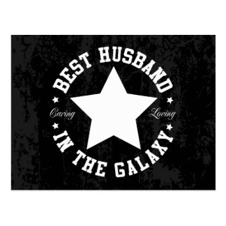 Bester Ehemann in der Galaxie Postkarte