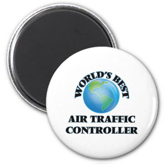Bester Fluglotse der Welt Runder Magnet 5,7 Cm